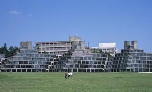 UEA's famous ziggurats.