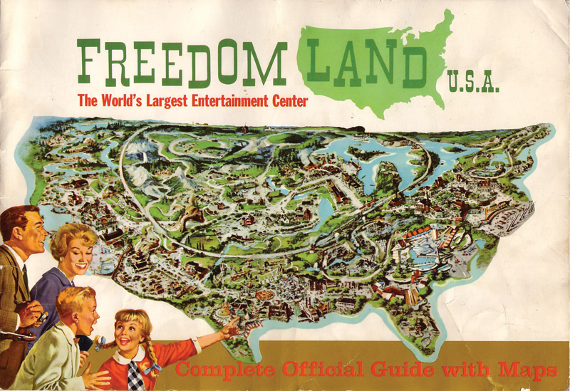 The cover from one of Freedomland's brochures, early 1960s.