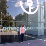 Me standing in front of the Corning Museum of Glass