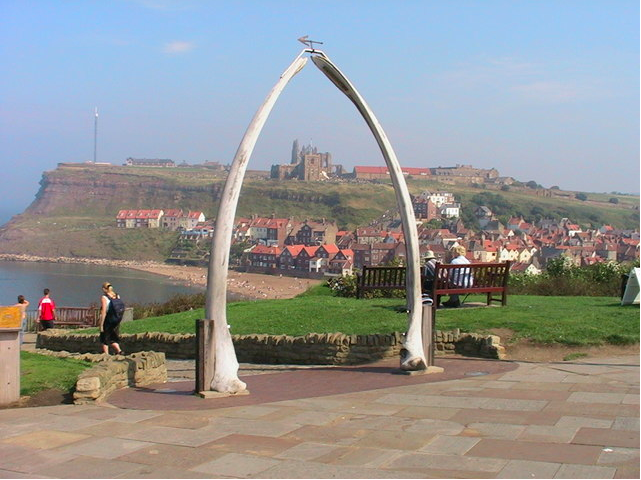 Picture of the whalebone arch in Whitby, Yorkshire, England